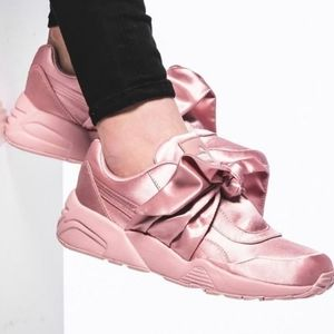Puma Fenty Rhianna Pink Ribbon Sneakers